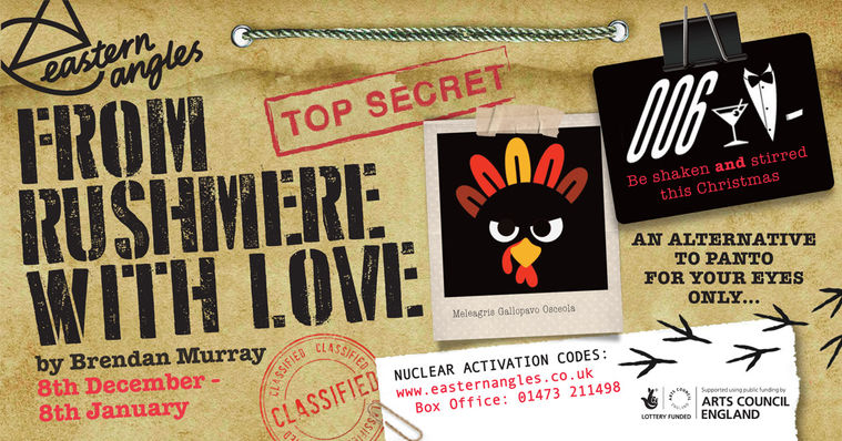 From Rushmere With Love poster. Top secret file with cartoon image of a turkey.