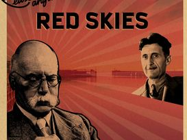 Poster for Red Skies with pictures of George Orwell and Arthur Ransome